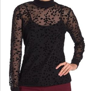 Sheer Polka Dot Blouse *removable tank*